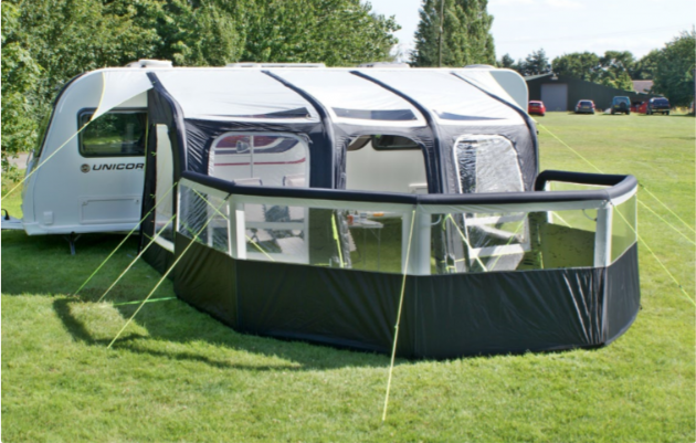 Leisurewize Airbreak 8000 Single Inflation Windbreak - 2020 New, Campervan Caravan Motorhome Awning - Grasshopper Leisure